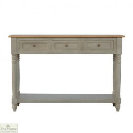 Toulon Grey 3 Drawer Console Table