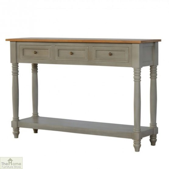 Toulon Grey 3 Drawer Console Table_2