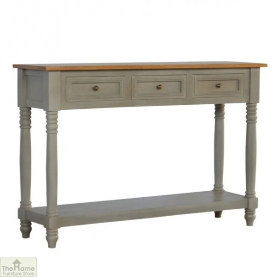 Toulon Grey 3 Drawer Console Table_1