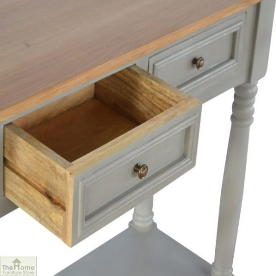 Toulon Grey 3 Drawer Console Table_5