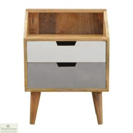 Winchester Grey 2 Drawer Bedside Table