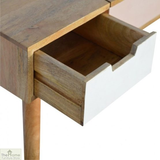 Winchester Pink 3 Drawer Dressing Table_5