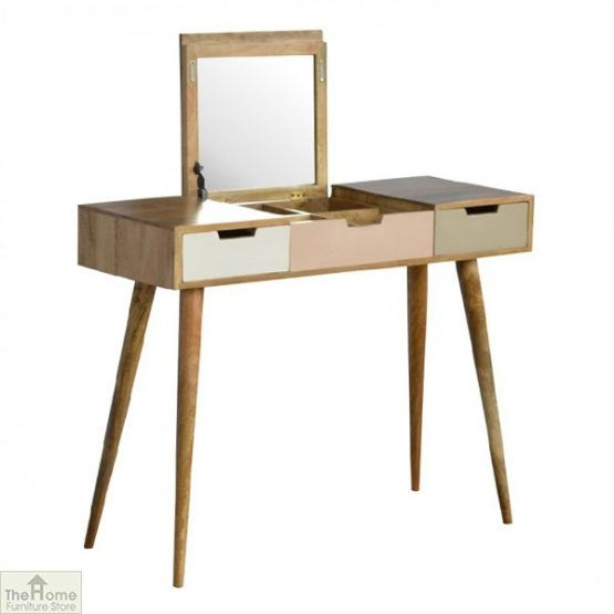Winchester Pink 3 Drawer Dressing Table_2