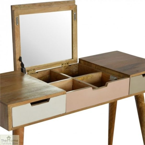Winchester Pink 3 Drawer Dressing Table_3