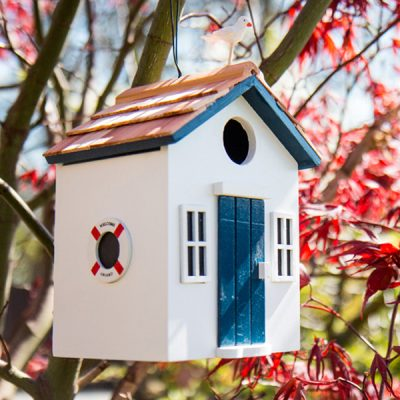 Beach Hut White Bird House_1