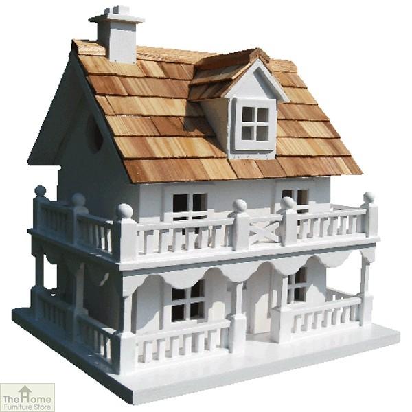 White Cottage Bird House
