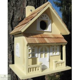 Country Cottage Yellow Bird House_1