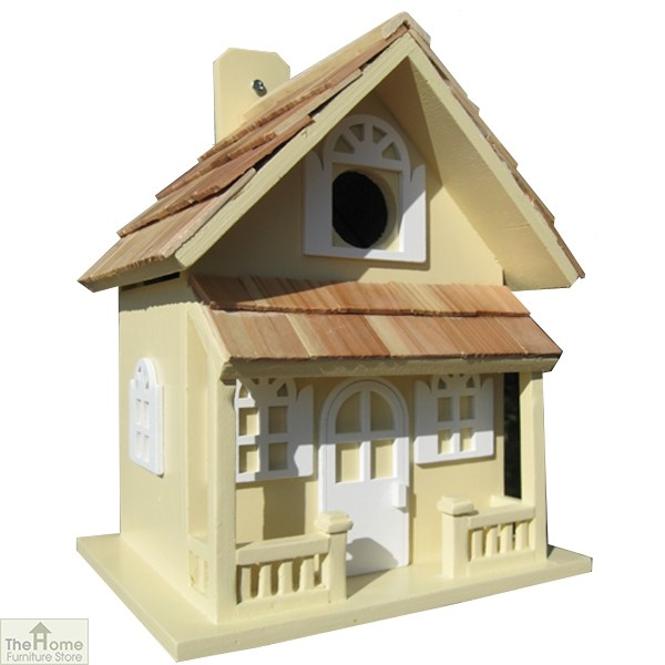 Country Cottage Yellow Bird House