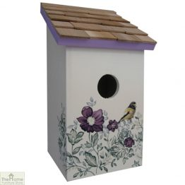 Anemone Printed Saltbox Bird House