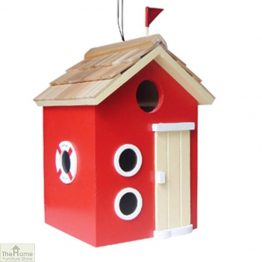 Beach Hut Red Bird House