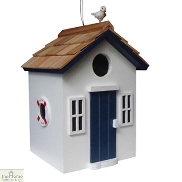 Beach Hut White Bird House