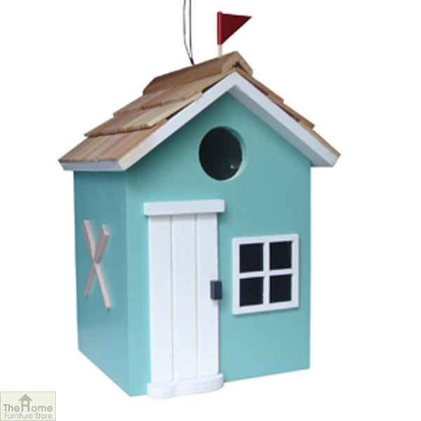 Beach Hut Turquoise Bird House