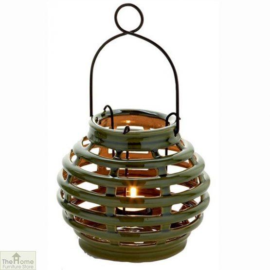 Green LED Solar Garden Lantern