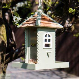 Nestling Green Hanging Bird Feeder_1