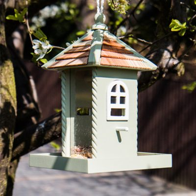 Nestling Green Hanging Bird Feeder_1