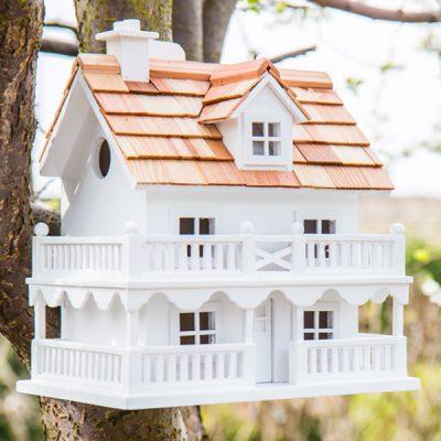 White Cottage Bird House_1