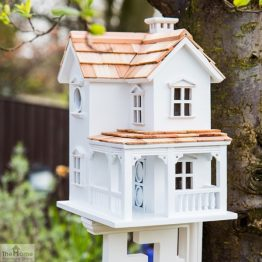 Prairie Farmhouse White Bird House_1