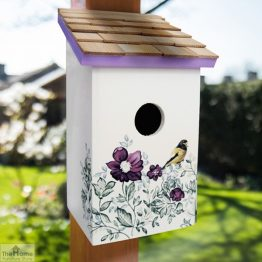 Anemone Printed Saltbox Bird House_1
