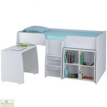 White 3ft Loft Bed Bundle