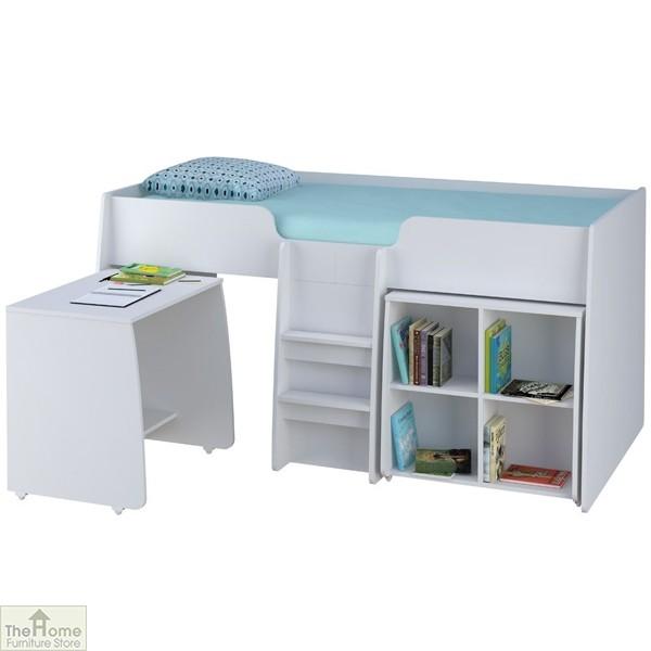White 3ft Loft Bed Bundle
