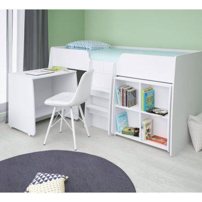 White 3ft Loft Bed Bundle_1White 3ft Loft Bed Bundle_1