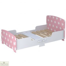 Pink Star Junior Toddler Bed
