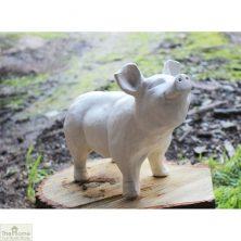White Pig Garden Ornament