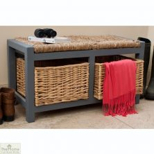 CASAMORÉ GLOUCESTER 2 DRAWER STORAGE BENCH SLATE GREY