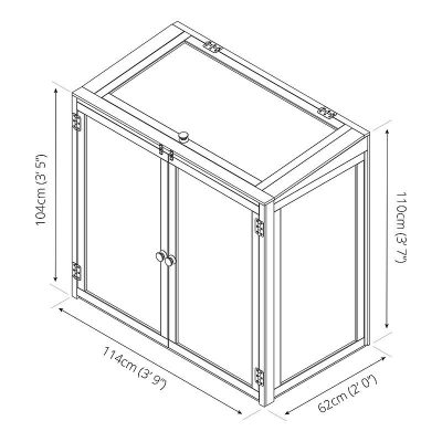 4 x 2 Mini Wooden Greenhouse_11