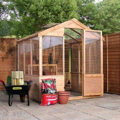 6 x 6 Evesham Wooden Greenhouse_2