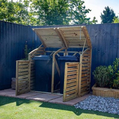 Pressure Treated Double Bin Store_1