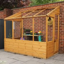 8 x 4 Evesham Lean-to Greenhouse