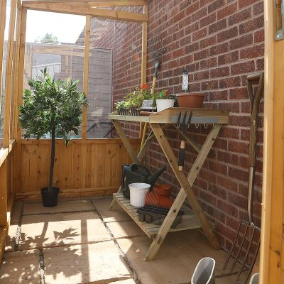 8 x 4 Lean-to Wooden Greenhouse_4