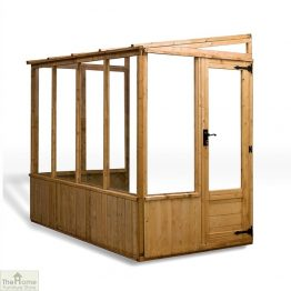 8 x 4 Lean-to Wooden Greenhouse