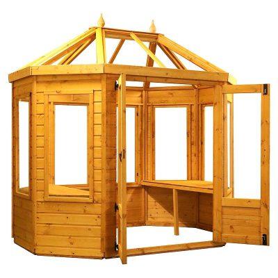 8 x 6 Octagonal Wooden Greenhouse_7