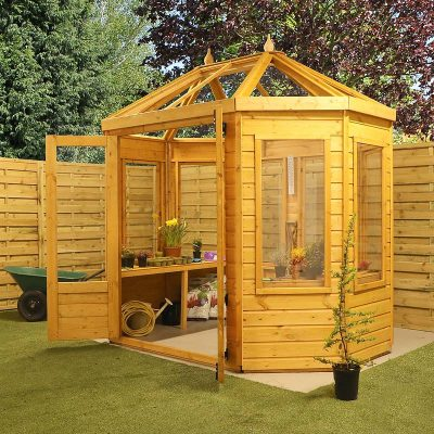 8 x 6 Octagonal Wooden Greenhouse_4