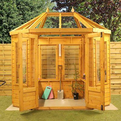 8 x 6 Octagonal Wooden Greenhouse_3