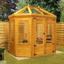 8 x 6 Octagonal Wooden Greenhouse