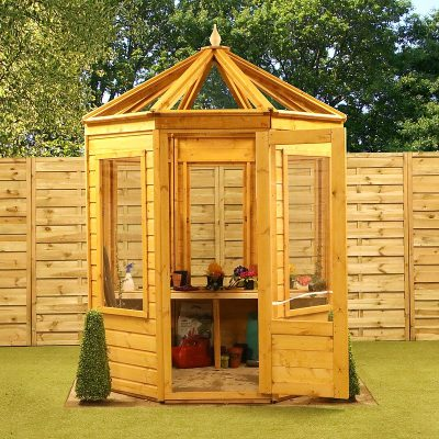 6 x 6 Octagonal Wooden Greenhouse_2