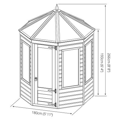 6 x 6 Octagonal Wooden Greenhouse_8