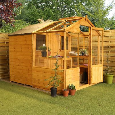 8 x 6 Combi Wooden Greenhouse Shed_2