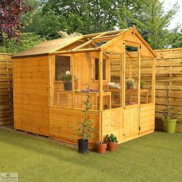 8 x 6 Combi Wooden Greenhouse Shed_1