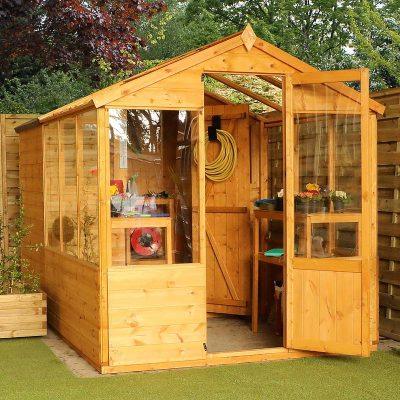 10 x 6 Combi Wooden Greenhouse Shed_2