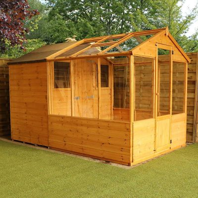 10 x 6 Combi Wooden Greenhouse Shed_4