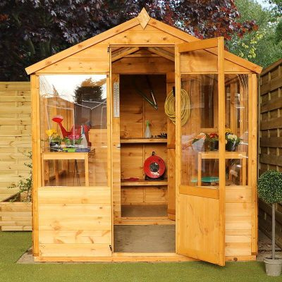 10 x 6 Combi Wooden Greenhouse Shed_3