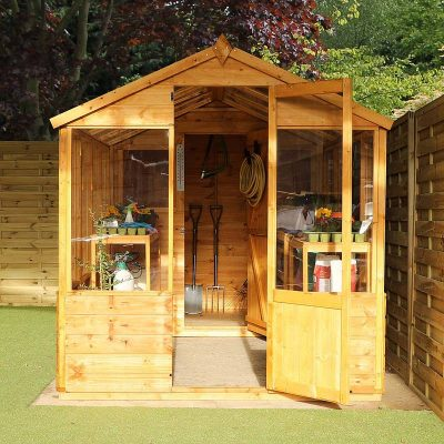 12 x 6 Combi Wooden Greenhouse Shed_2