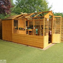 12 x 6 Combi Wooden Greenhouse Shed_1