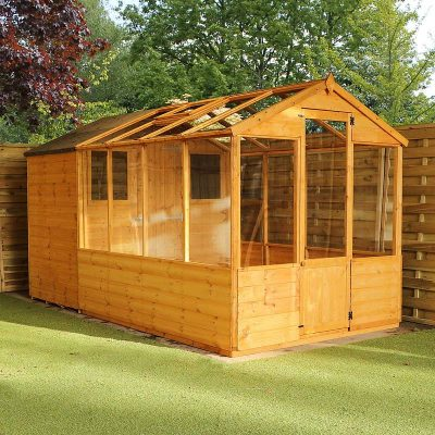 12 x 6 Combi Wooden Greenhouse Shed_3