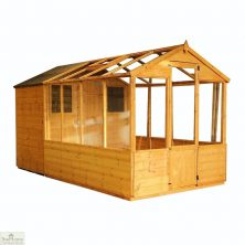 12 x 6 Combi Wooden Greenhouse Shed
