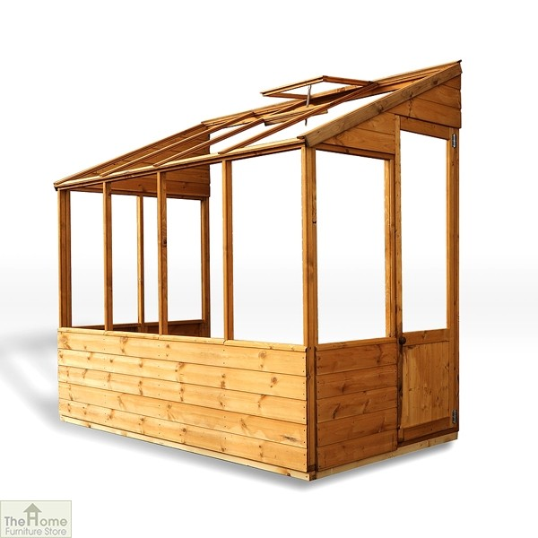 8 x 4 Evesham Lean-to Greenhouse